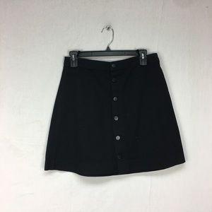 American Apparel Black Button Down Denim Skirt